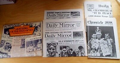 Past Times Headlines Of The 1920's And 30's Five Full Size Facsimile Newsspapers
