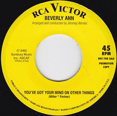 Northern Soul-BEVERLY ANN-You've Got Your Mind On Other Things / ROY HAMILTON
