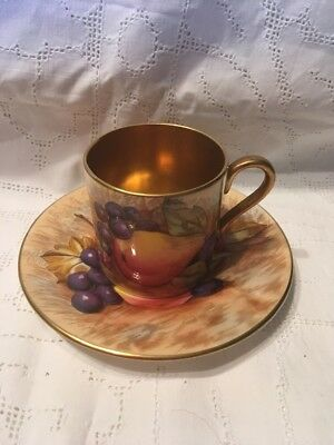 Aynsley Orchard Gold Coffee Can And Saucer 746