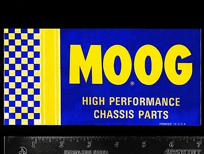 MOOG High Performance Chassis Parts - Original Vintage 70's Racing Decal/Sticker