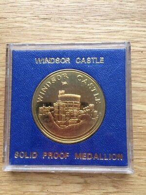 Windsor Castle Solid Proof Medallion
