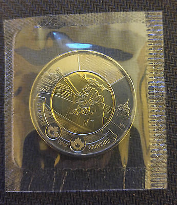 2016 Canada Battle of the Atlantic 75th Anniversary Toonie UNC $2 Mint Sealed