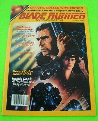 Orig'l 1982 BLADE RUNNER MOVIE STORY BOOK Ridley Scott HARRISON FORD Sean Young