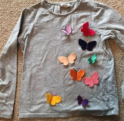 Girl's Mini Boden Butterfly Top 7-8 Yrs