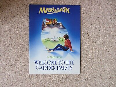 Marillion Welcome to the Garden Party tour concert programme