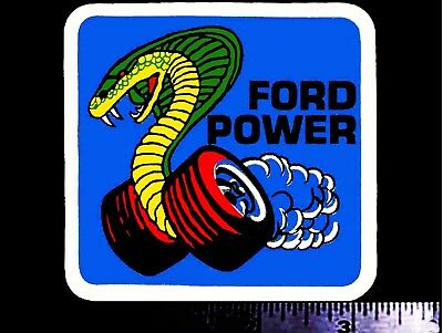 FORD POWER - Original Vintage 1970's Racing Decal/Sticker Shelby Cobra Mustang