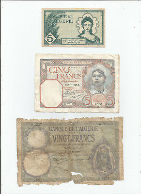 Algeria  Three  Notes  Low  Grade