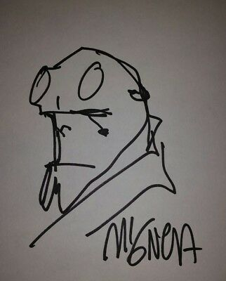Mike Mignola Original Hellboy Sketch signed free shipping Dark Horse