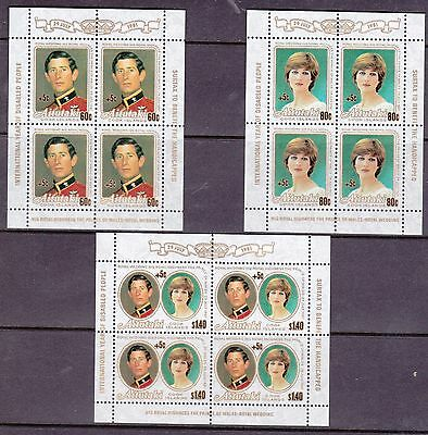 Aitutaki 1981 Int Year of the Disabled Charles and Diana Sheetlets UM Cat £7
