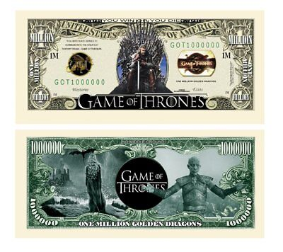 5 Factory Fresh Game of Thrones Million Dollar Bills