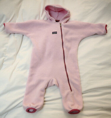 Patagonia fleece Bunting Pink 18 mo months baby toddler Synchilla snow suit