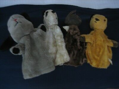 Vintage Sooty, Sue and Sweep,hand puppets