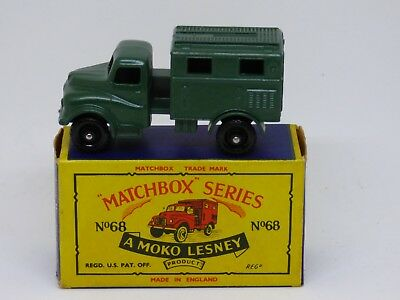 Matchbox Moko Lesney 1-75 #68 Army Wireless Truck in crafted box