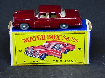 Matchbox 1-75 series #53 Mercedes-Benz Coupe in box