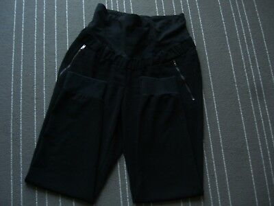 MAMA H&M Maternity Black joggers trousers size 14