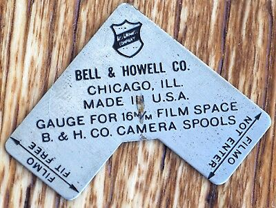 Bell and Howell Gauge for 16mm Film Space | Filmo cine movie camera spools