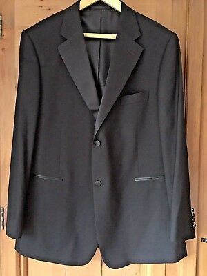Mens Black Tuxedo Dinner Jacket Chest 48 ins, Length 34 ins by Taylor & Wright