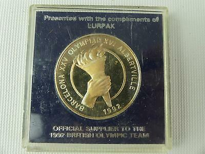 (REF165CO) 1992 Olympics Commemorative Coin Medal