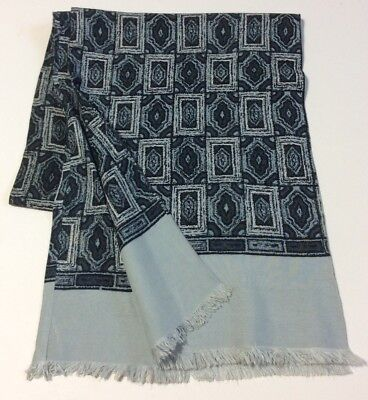Men's VINTAGE SCARF SILK WOOL SCARF ITALY Patterned 60's Retro Mod Cravat