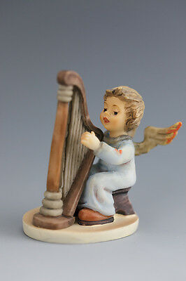 Lovely M J  Hummel miniature angel figurine - harp player