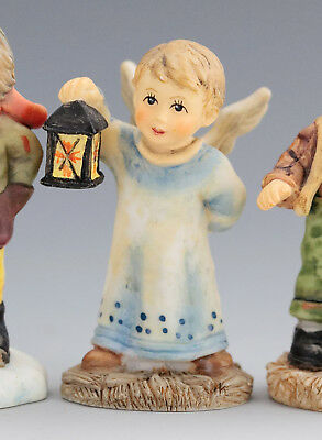 Lovely M J  Hummel miniature figurine - angel with lantern
