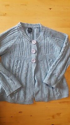 Girls blue mini Boden cardigan sweater, size 7-8 years