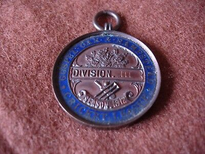 Gospel Oak & Hampstead Enamel Bronze Cricket medal div 3 1912 P.Cummings KIA WW1