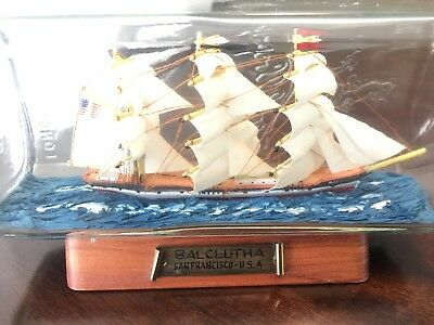 "Ship in a Bottle BALCLUTCHA SAN FRANCISO 7"" RARE COLLECTORS ITEM MINT CONDITION"