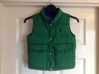 Boys Polo By Ralph Lauren Reversible Body Warmer Size 3/3T