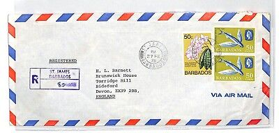 BT64 1978 Barbados St James Commercial Air Mail Cover {samwells}PTS