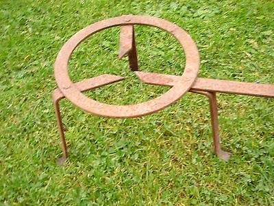 Old Spanish Iron Fire Trivet Camp Fire Bbq