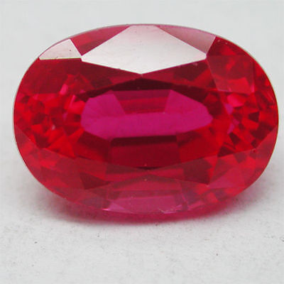 UNUSUAL 9x7mm OVAL-FACET TOP-RED RUBY GEMSTONE