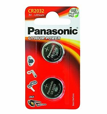 2 x Panasonic CR2032 3V Lithium Coin Cell Battery 2016 New
