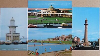 4 small size Postcards of Fleetwood, Lancashire.
