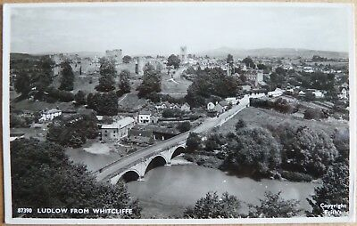 RP Postcard of Ludlow from Whitcliffe, Shropshire.