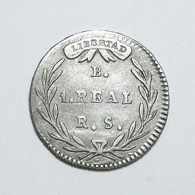 COLOMBIA - Real 1836 - Silver - EXCELLENT - SCARCE - NO RESERVE