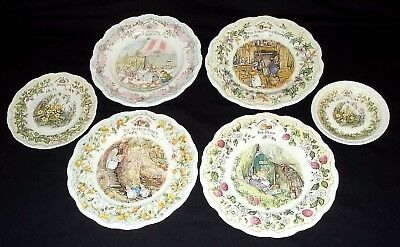 SIX Royal Doulton BRAMBLY HEDGE - Collectors Plates - Includes The Wedding