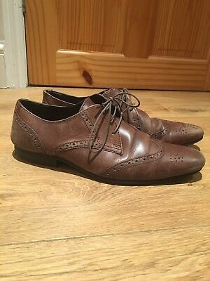 Mens Brogue Shoes Size 9.5 Eur44 By Topman Brown Smart/Evening/Work