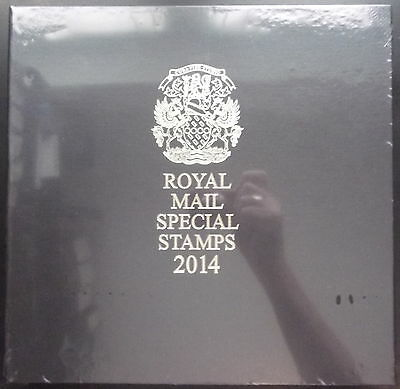 2014 Leather Bound Royal Mail Year Book. Limited Edition. Complete & Sealed.