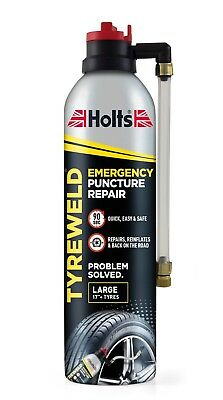 "Holts Tyre Weld 500Ml. Large 17"" Emergency Tyre Puncture Repair."