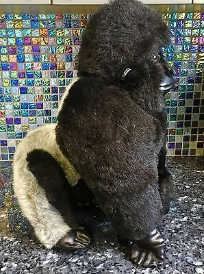 "Xl 20"" Fao Schwarz Silverback Mountain Gorilla Monkey Ape Plush Stuffed Soft Toy"