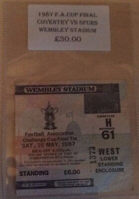 1987 F.A. CUP FINAL MATCH TICKET WEMBLEY  COVENTRY CITY vs. SPURS. NO. 1373