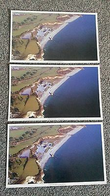 CARLYON BAY ST AUSTELL X 3 POSTCARDS EARLY 1990's