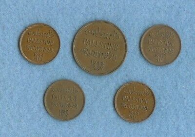 5 coins from Palestine