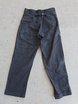 VTG 40s 50s BUCKLEBACK WORK PANTS SANFORIZED STRIPED STIFEL 31 X 30 DISTRESSED