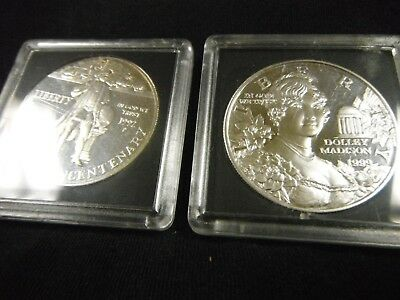 Two Silver Dollars Commemoratives 1992 -1999