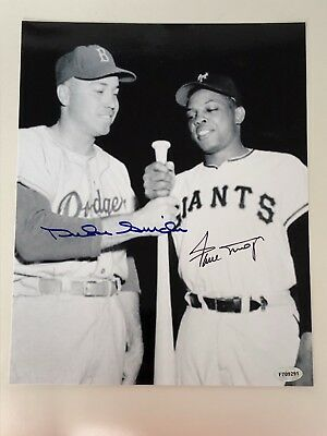Willie Mays / Duke Snider   Autographed 8x10 Photo ......Certified