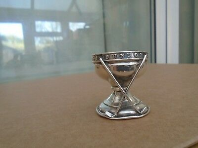 antique 1931 silver dunlop hole in one souvenir cup   unusual golf ball stand