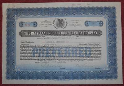 31495 USA 1921 Cleveland Rubber Corporation 32 shares certificate