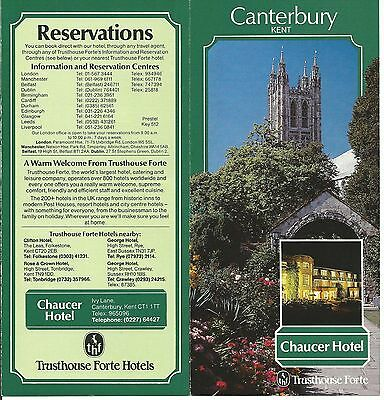TRUST HOUSES FORTE HOTELS-Advertising Leaflet.-CHAUCER HOTEL, CANTERBURY